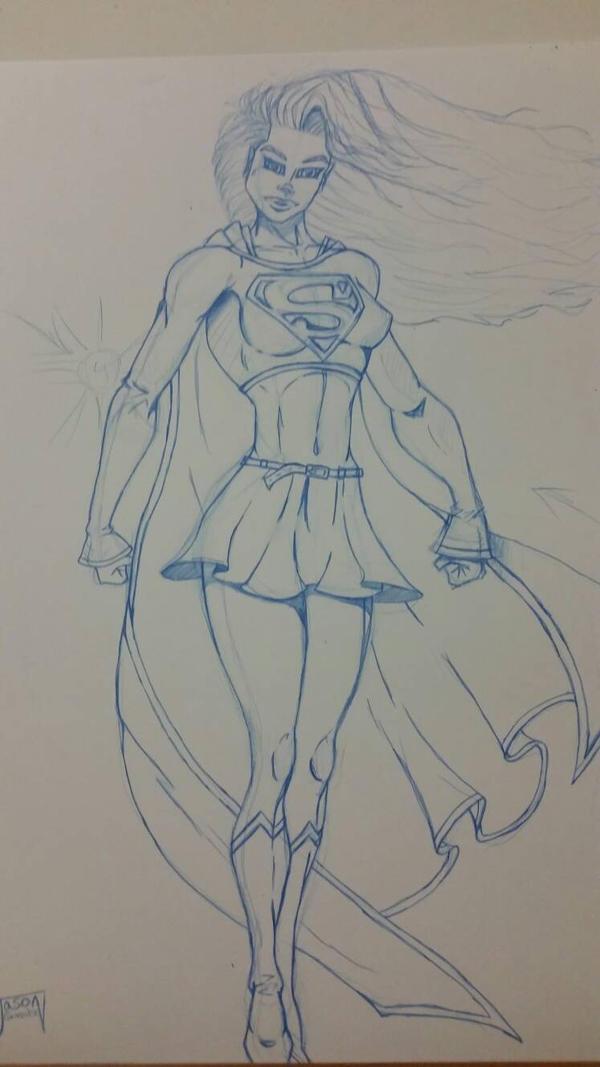 Supergirl Pencils