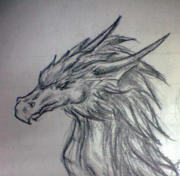 how to draw a realistic dragon with pencil
