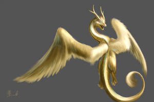 Golden Dragon Random draw by Lena-Lucia-dragon