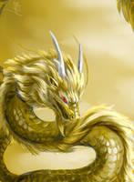 Golden sky by Lena-Lucia-dragon