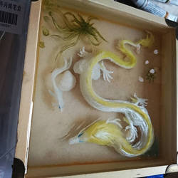 Resin painting dragon and fish by Lena-Lucia-dragon