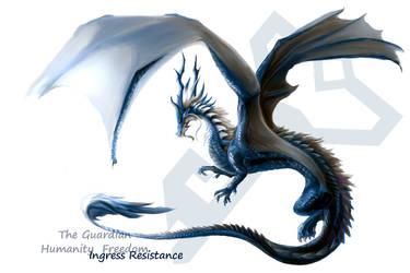 Resistance guardian dragon by Lena-Lucia-dragon