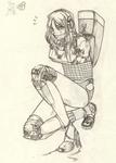 Human Arcee tied up