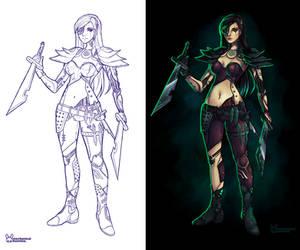 Cyborg Katarina by jennduong