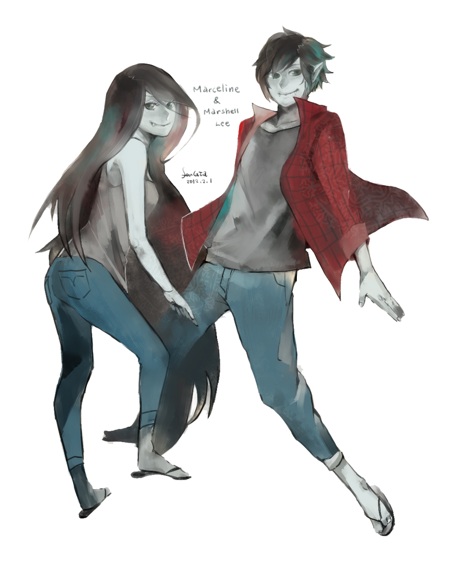 Commission Marceline X Marshall Lee By LauEspi97 Source Adventure Time Wallpaper And Marshal