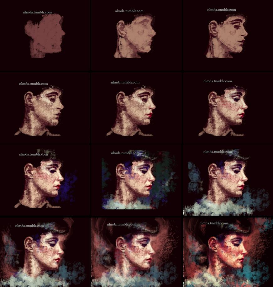 Rachel - work in progress. by ladynlmda