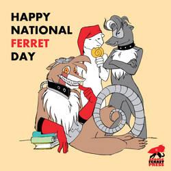 Happy National Ferret Day! by Yastach