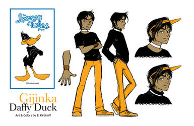 Gijinka Daffy Duck Version 1