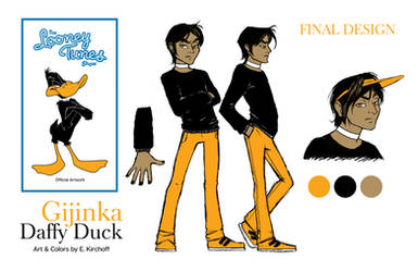 Gijinka Daffy Duck Final Version by Yastach