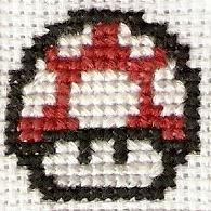 Red Mushroom Cross Stitch by magentafreak