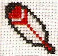 Feather Cross Stitch by magentafreak