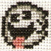 Silly Boo Cross Stitch by magentafreak