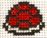 Red Shell Cross Stitch by magentafreak