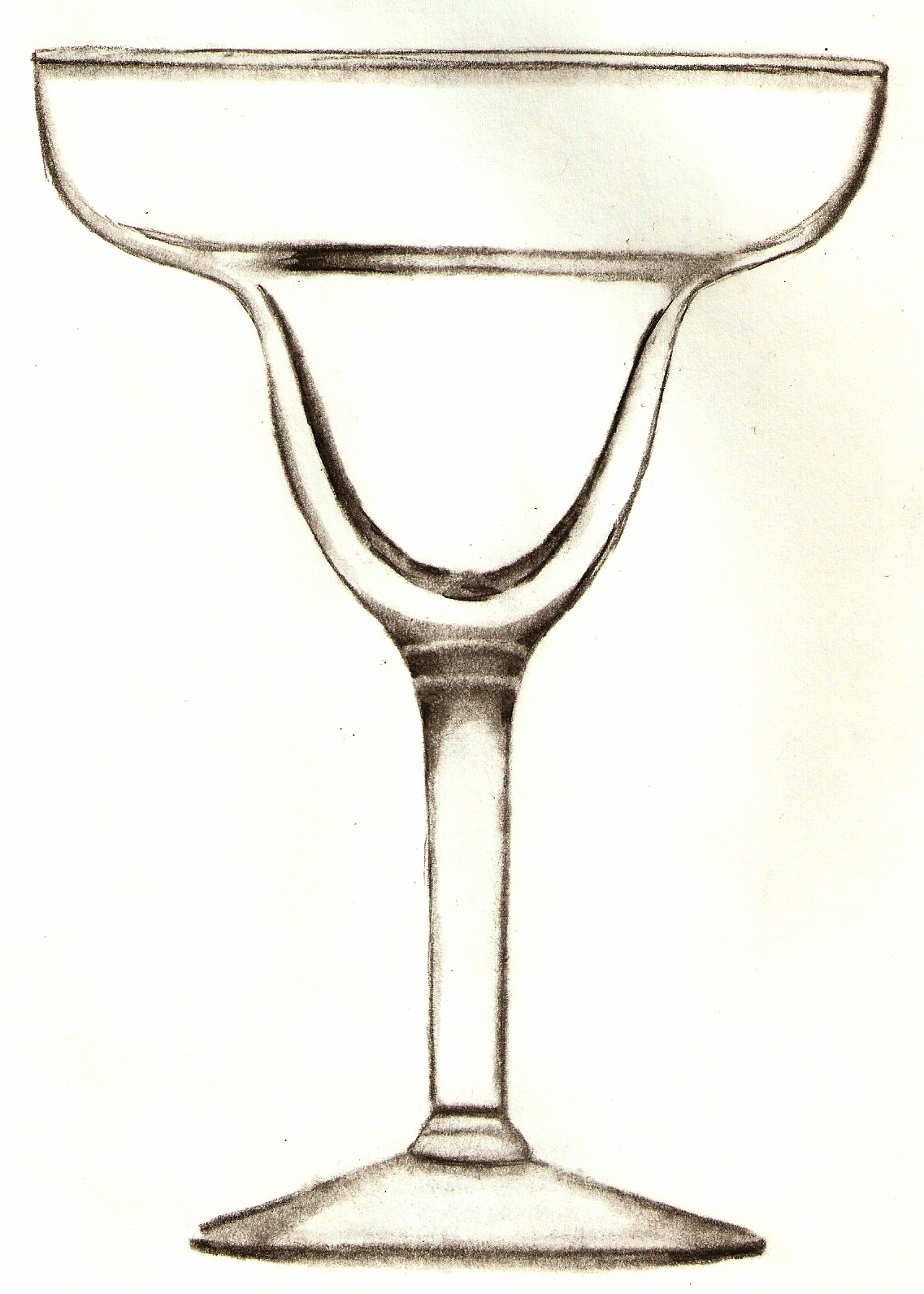 This is a picture of Challenger Margarita Glass Drawing