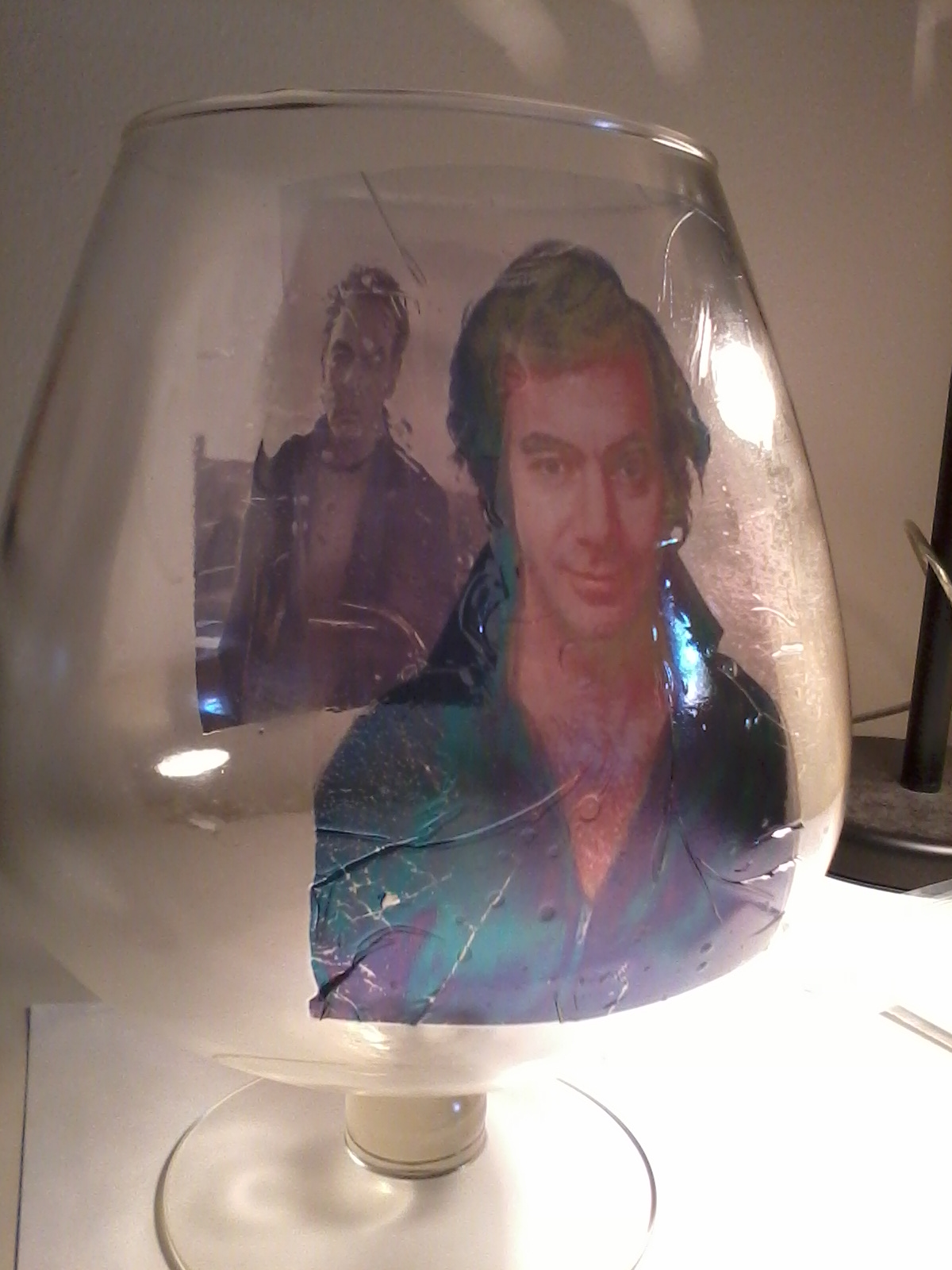 Neil Diamond Glass Side 1 by magentafreak