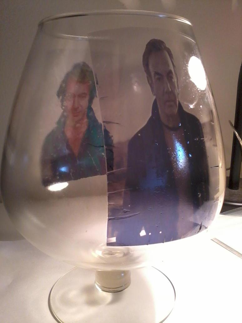 Neil Diamond Glass Side 2 by magentafreak