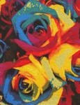 Colorful Roses by magentafreak