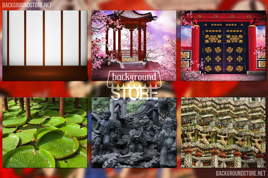 Asian Backdrops Images Bundle by BackgroundStore