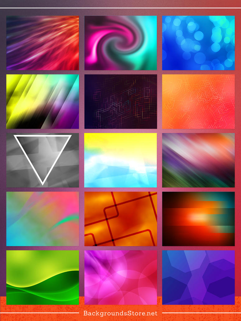 Abstract Backgrounds Set by BackgroundStore