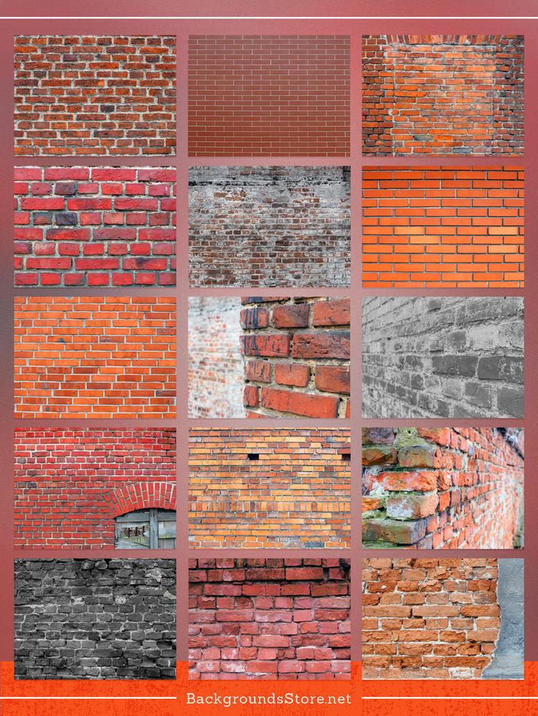 Bricks Images Set by BackgroundStore