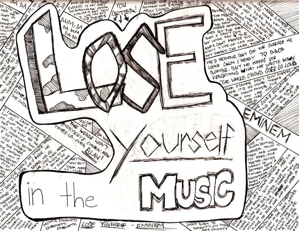 how to print lose yourself lyrics