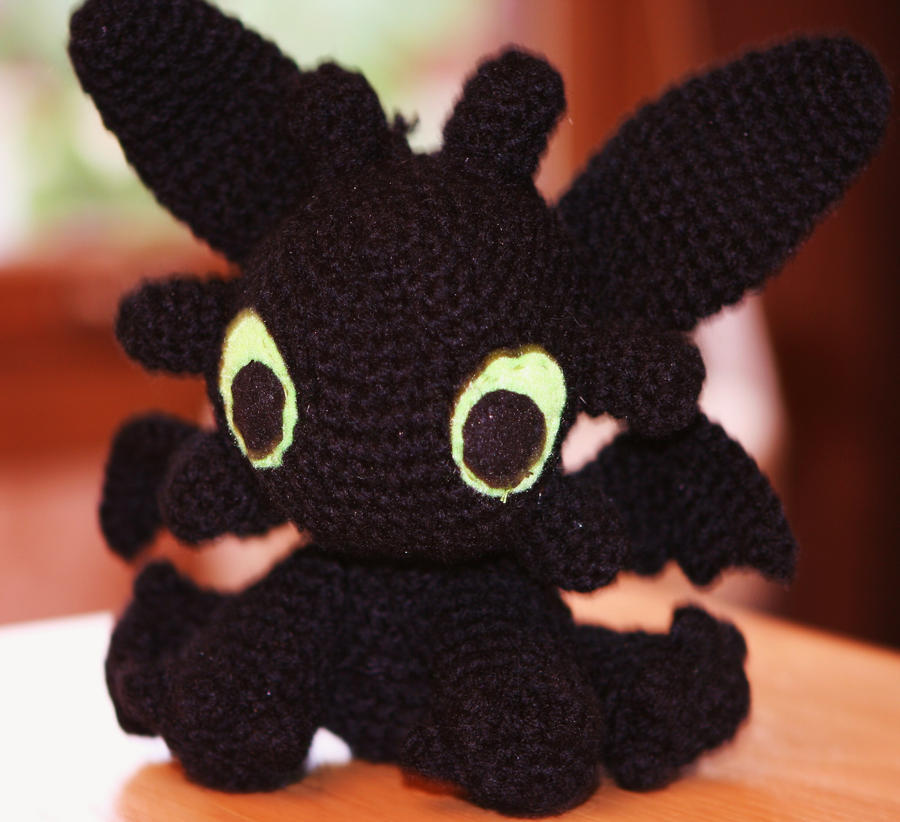 Free Crochet Pattern For Toothless The Dragon : Amigurumi 7- Toothless HTTYD by zombiesandunicorns on ...