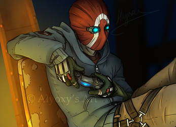 Gaming Bandit (Borderlands 2 Fan Art) by Alyoxy