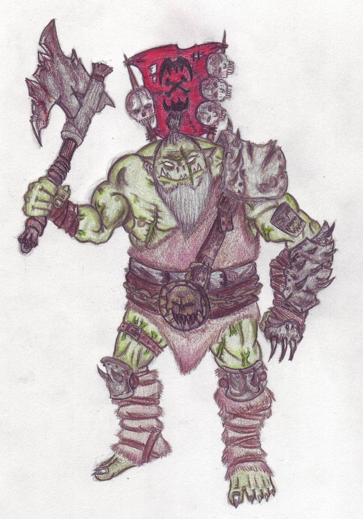 Ork Warrior by Petaru