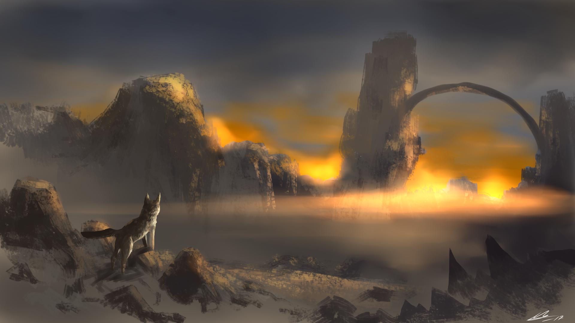 Sunny horizon by MineaAmanda