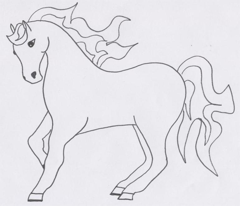 my horse drawing by animewolfgirl16 on DeviantArt