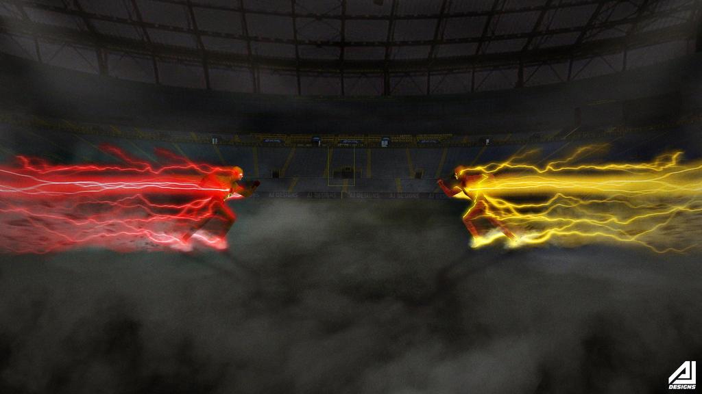 Flash Vs Reverse Flash Wallpaper: The Flash Vs. Reverse Flash By Ajay02 On DeviantArt