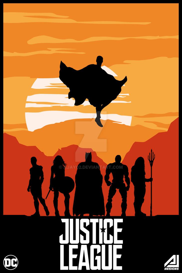 justice league vector poster by ajay02 on deviantart