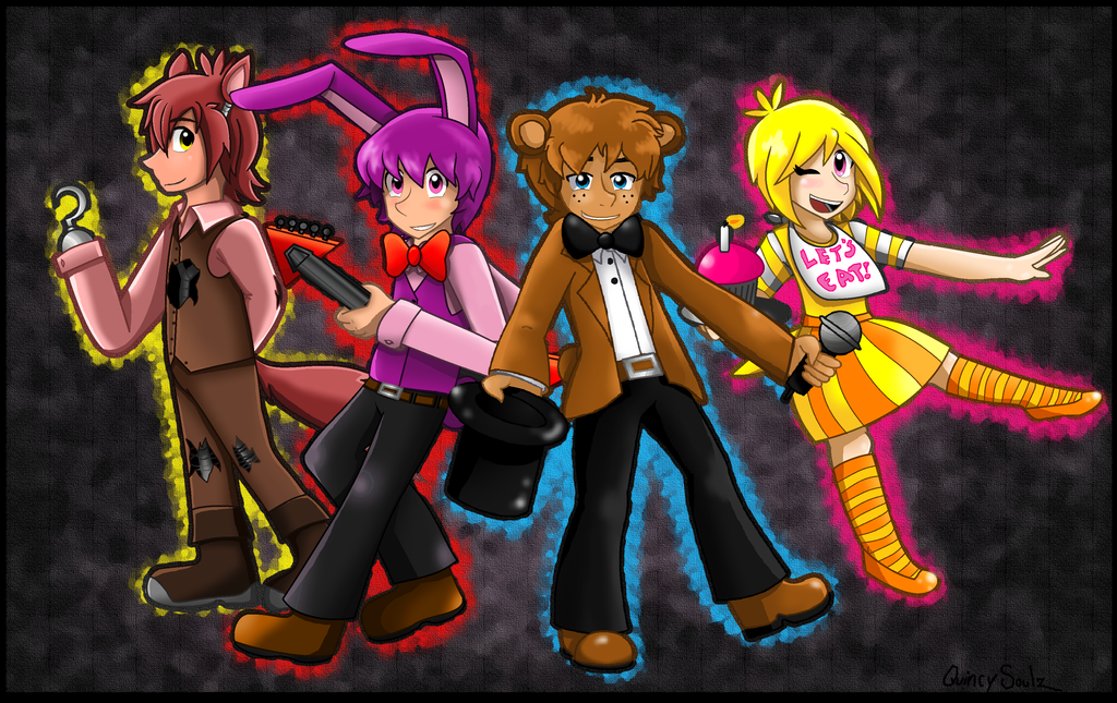 five nights at freddy s humans by quincysoulz on deviantart