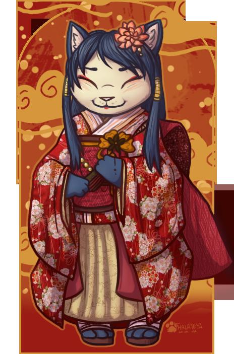 Kimono Kitty by Thalateya
