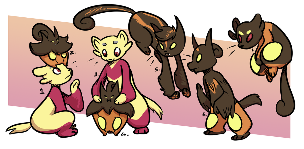PKMNN - Pumkaboo x Mienfoo Cross Clutch (Sold) by Thalateya