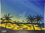 Blue Sky Palm Trees