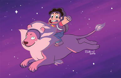Steven and His Lion by RabidBrains
