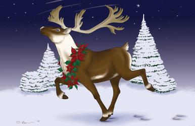 Reindeer Holiday Card 2015 by RabidBrains