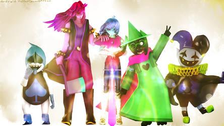 The Fun Gang+Jevil by emeraldvortex1