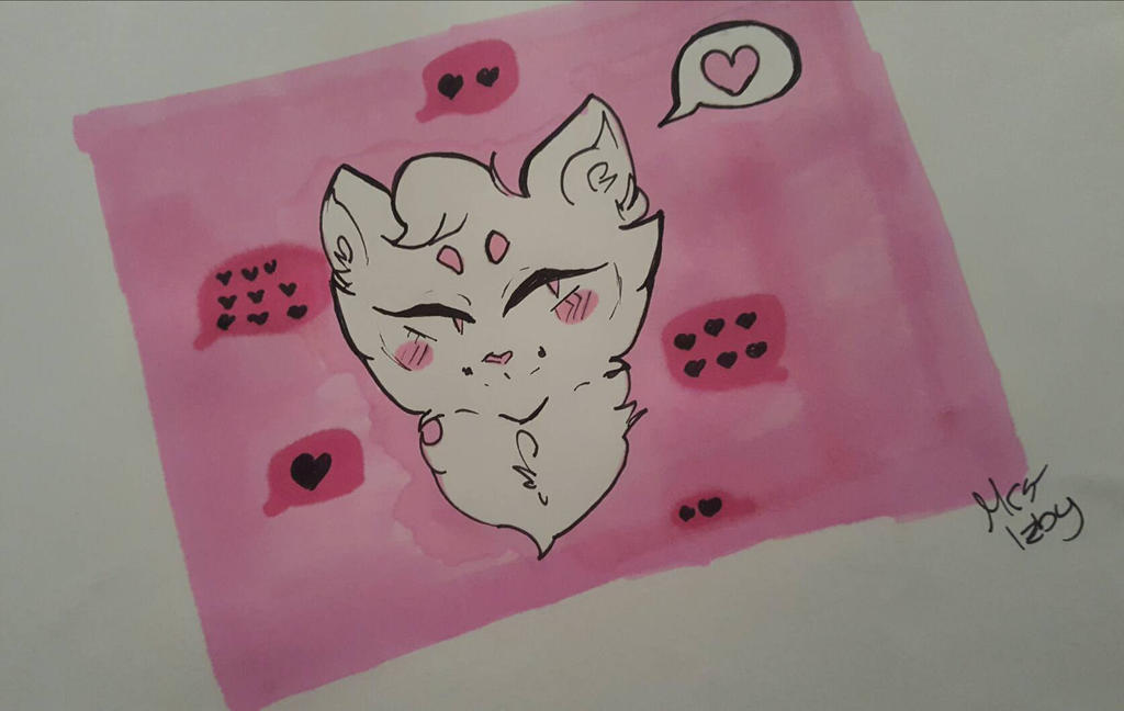 Many hearts and a Cat  by Mrs-Izby