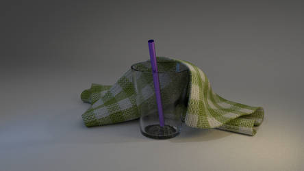 Glass and Towel by ThreeViews