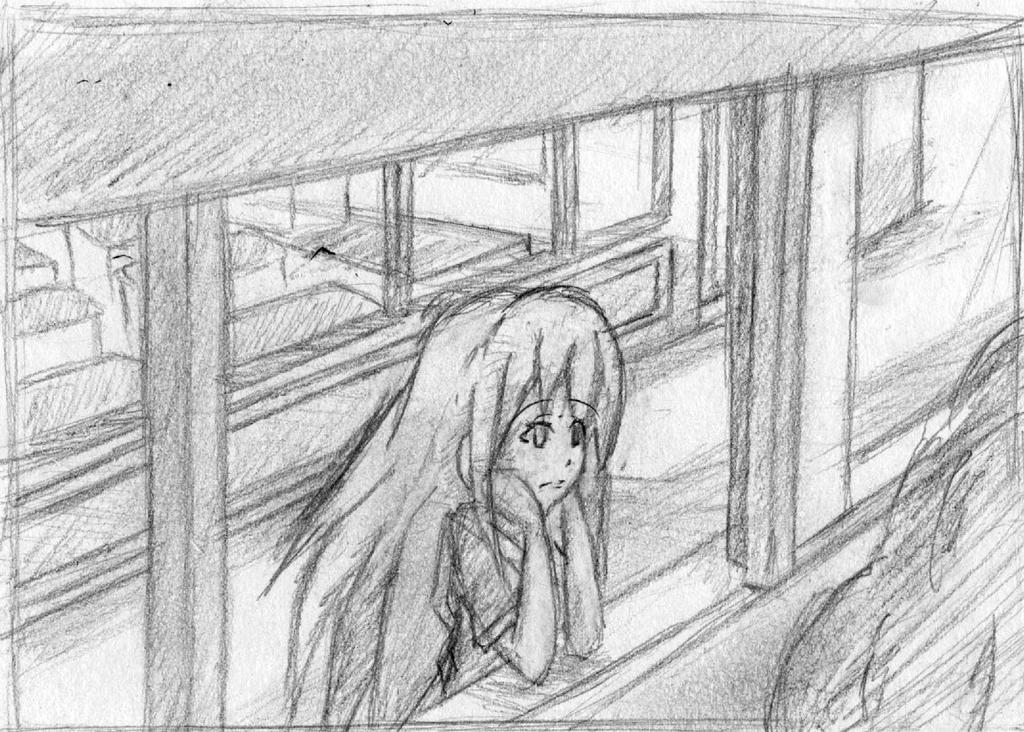 Girl Looking Out Of Window By Bashkun On Deviantart