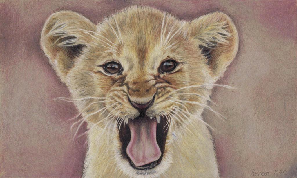 Roaring cub by NillaMustikka