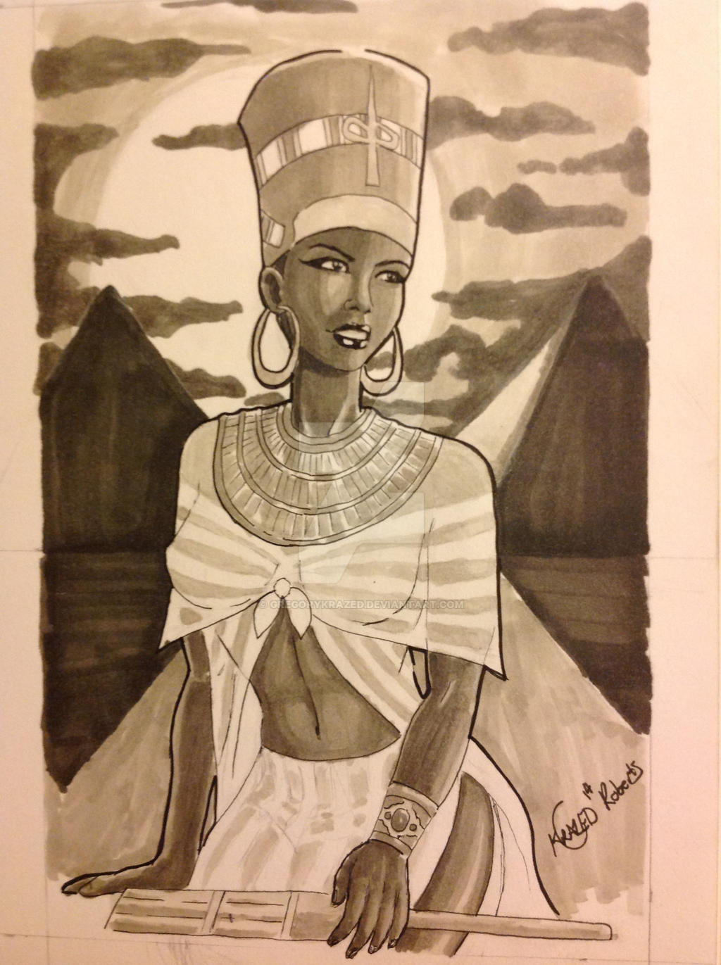 Queen Nefertiti by GregoryKrazed on DeviantArt