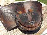 Viking Bracers and Pouch
