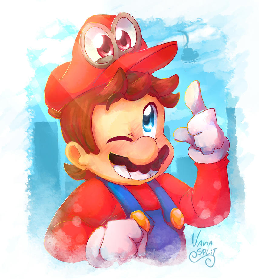 Super mario odyssey by vanabananasplit on deviantart for Super mario odyssey paintings