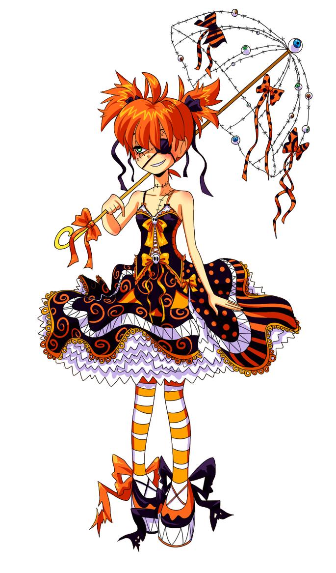 Pumpkin's Monster Dress by VooDooDollMaster