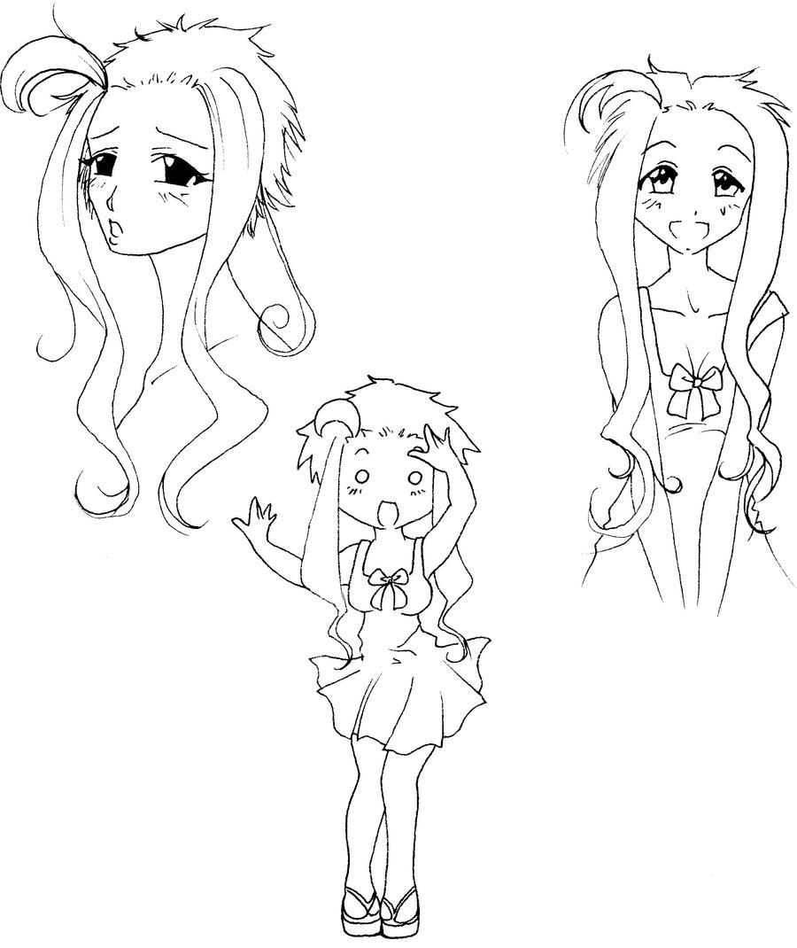 Kirika DateSim doodles by NanakoHarrison