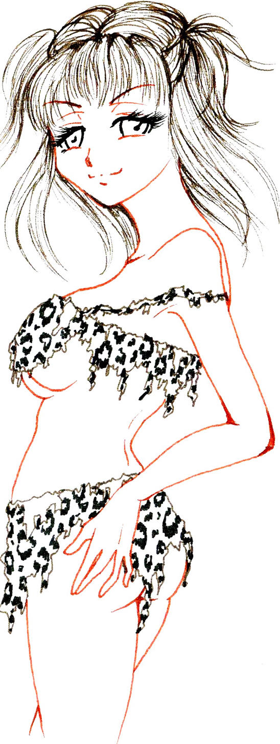 Nena lineart day: cave woman by NanakoHarrison