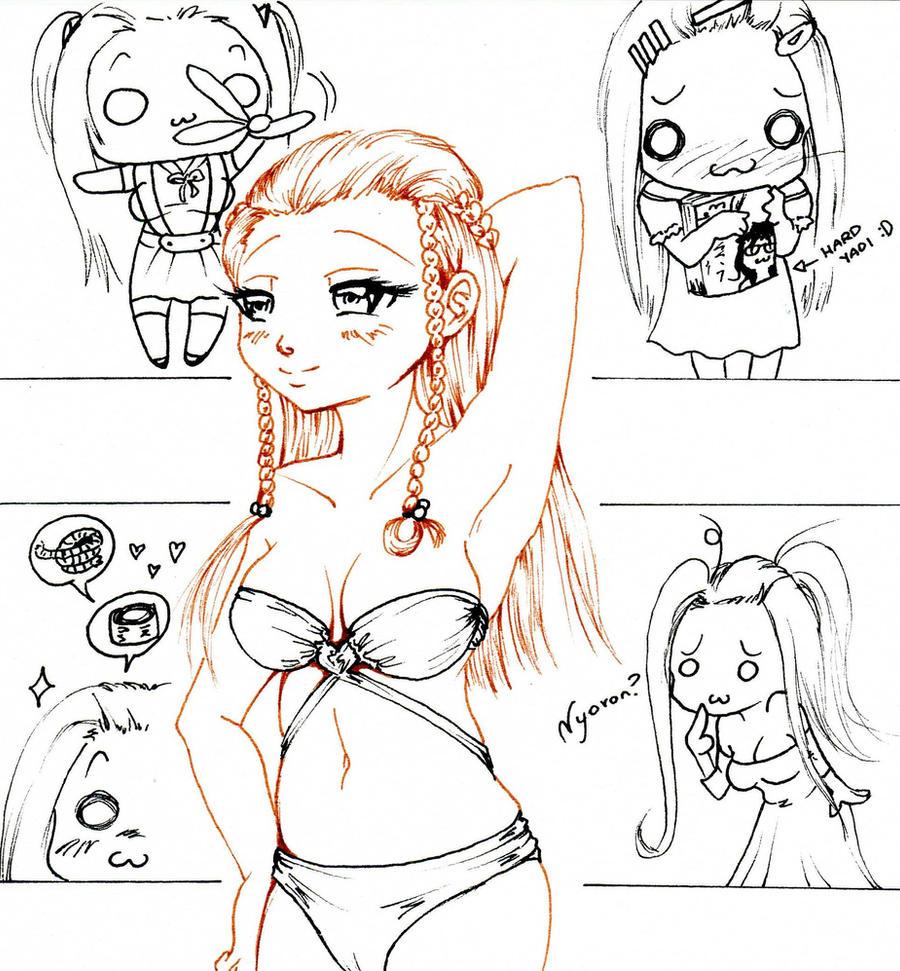 mayumi bikini and chibies by NanakoHarrison